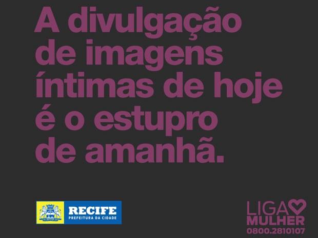 Campanha da Prefeitura do Recife contra o machismo nas redes sociais (Foto: Divulgação/Prefeitura do Recife)