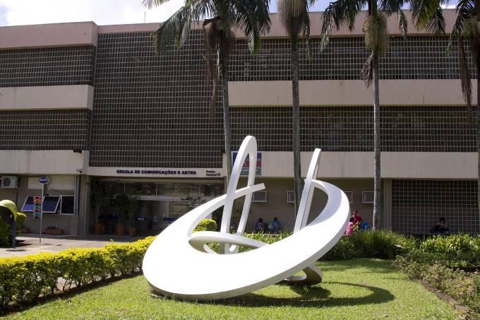 Comunicação e Informação - USP: Fachada da Escola de Comunicação e Artes (ECA-USP) (crédito: Marcos Santos/ USP Imagens)